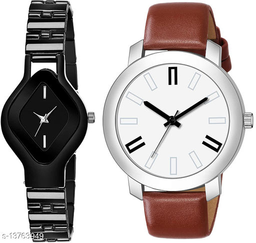 L714 & K147 COMBO OF  TWO PREMIUM Watches For Women & Men