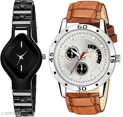 L714 & K141 COMBO OF  TWO PREMIUM Watches For Women & Men