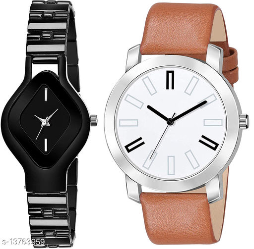 L714 & K146 COMBO OF  TWO PREMIUM Watches For Women & Men