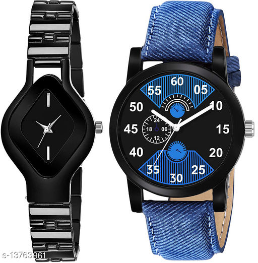 L714 & K148 COMBO OF  TWO PREMIUM Watches For Women & Men