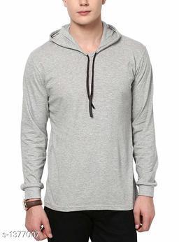 Men's Trendy Cotton Blend Hooded Sweatshirt