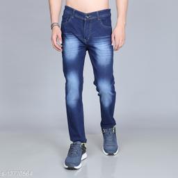 Omanta Men's Denim Dark Blue Round Pocket Jeans