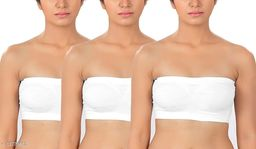 Pack of 3 Non Padded Bandeau Bra