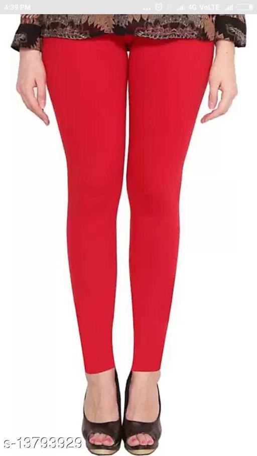 Peeyarka Red Ankle Length LEGGINGS
