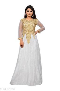 Raiyani Fashion Embroidered Net Semi Stitched Anarkali Gown