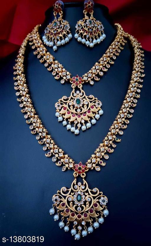 Diva Elegent Temple Jewellery Set with Earrings