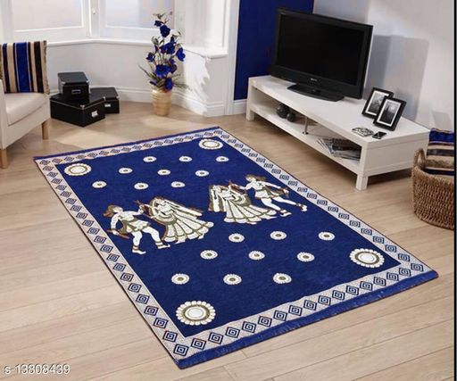 Ex-cell designer printed attractive chennille carpet  Size (4.5x7) ft (54x84) inch.