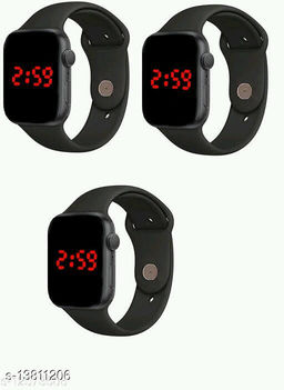 latest trendy combo-3 squre digital watches for age group 7 to 17 years children & kids