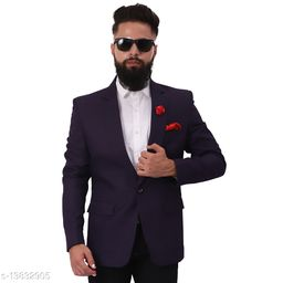 Mr.Dulha Men's Slimfit Casual One Button Blazer with Brooch - 12 Colors