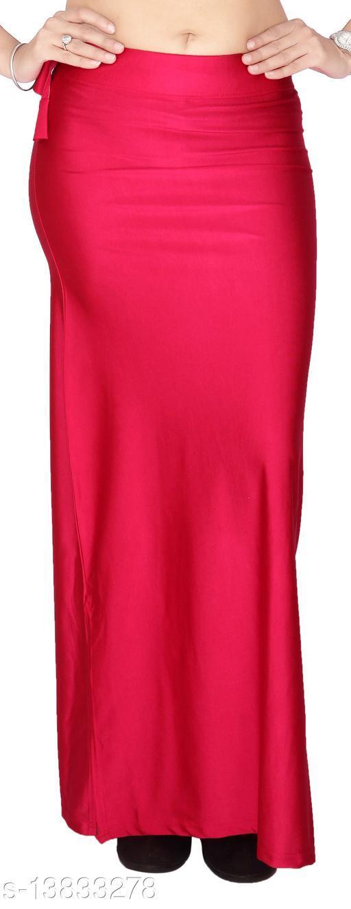 Carrel Women Lycra Fabric Comfort Fit Long Length Plain Shiney Petticoat Shapewear (Megenta,L)