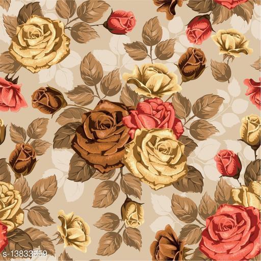 WallWear Self Adhesive Wallpaper Design Vintage Rose Large (300x40)CM For Bedroom/Drawingroom/Kitchen/Office/Door/Almira Walls