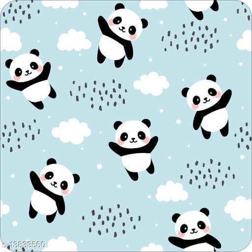 WallWear Self Adhesive Wallpaper Design Cloud Panda Large (300x40)CM For Bedroom/Drawingroom/Kitchen/Office/Door/Almira Walls