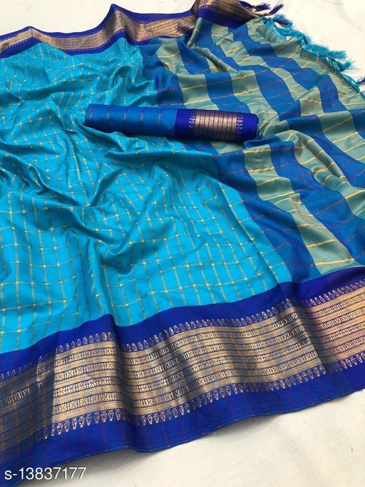 New soft cotton silk saree for women