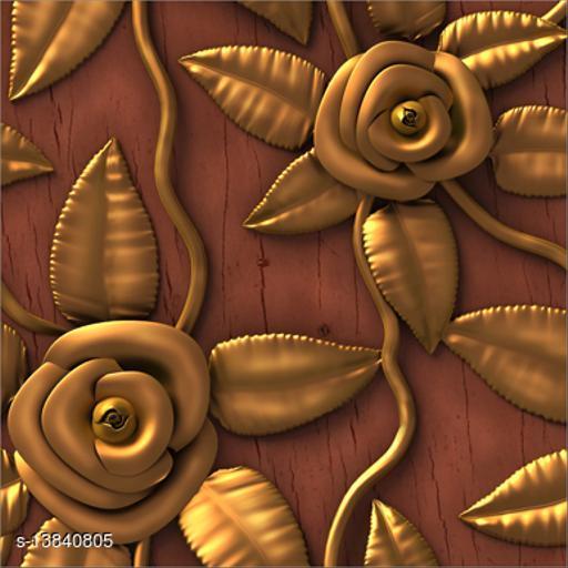 WallWear Self Adhesive Wallpaper Design Dark Rose Large (300x40)CM For Bedroom/Drawingroom/Kitchen/Office/Door/Almira Walls