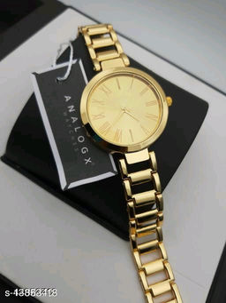 Miss Perfect Women Gold Roman New  Dial Analog Girls And Women Watch