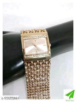 Miss Perfect Rectangle Rose Gold Diamond Cash New Women Watch