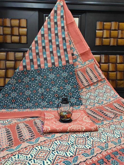 Women's Cotton Mulmul Printed Saree