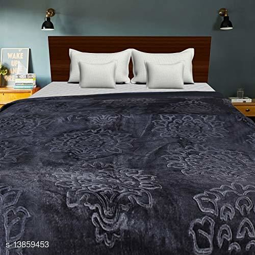 Floral Warm Soft Luxurious 360 TC Mink Double Bed Blanket