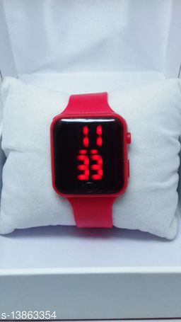 new genetation red smart watch for age group 7 to 17 years children-kids