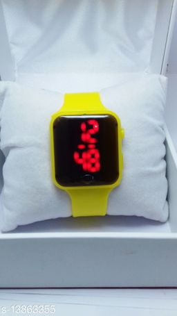 new genetation yellow smart watch for age group 7 to 17 years children-kids