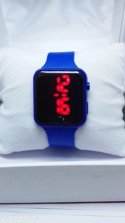 new genetation navy blue smart watch for age group 7 to 17 years children-kids