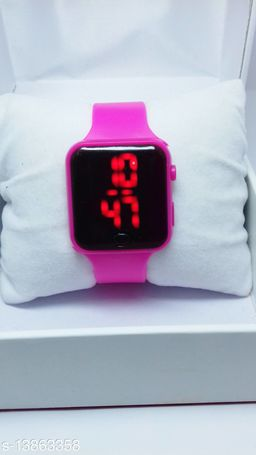 new genetation pink smart watch for age group 7 to 17 years children-kids