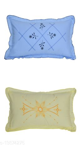 HK Collection Latest Embroidery Pillow Covers (Set of 4 Pieces)