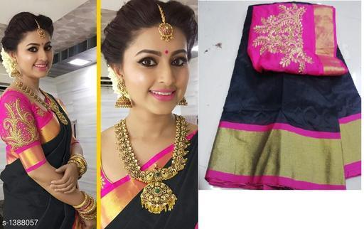 Attractive Chanderi Cotton Zari Saree