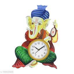 Kangroo 44.45 cm X 33 cm Wall Clock (Multicolor, with Glass) for Home,Office,Pooja Ghar