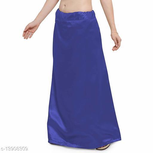 Women's Satin Petticoat - Navy Blue (Free Size Upto 26-36)II Satin Inner side Cotton Stitched Petticoat II Solid Plain In skirt Saree Satin Petticoat II Satin Petticoat for Girls