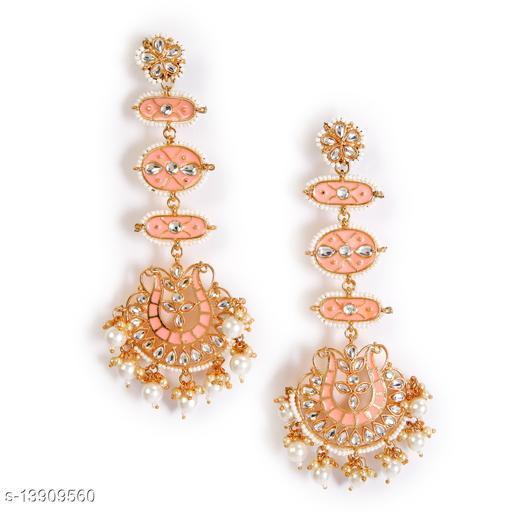 Zullie - Ethenic Meenakari Earring With Pearls & Stone for Women
