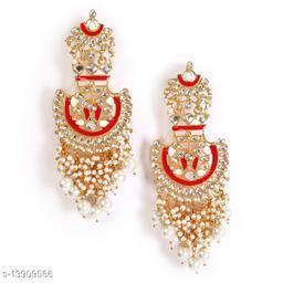 Zullie - Ethenic Meenakari Jumkhi  With Pearls & Stone for Women