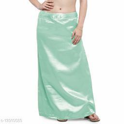 Women's Satin Petticoat - Mint Green (Free Size Upto 26-36)II Satin Inner side Cotton Stitched Petticoat II Solid Plain In skirt Saree Satin Petticoat II Satin Petticoat for Girls