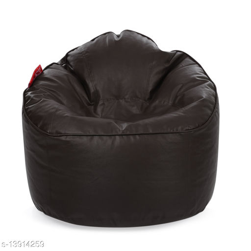Style Homez Premium Leatherette Mooda Rocker Lounger Bean Bag XXL Size Chocolate Brown Color Cover Only