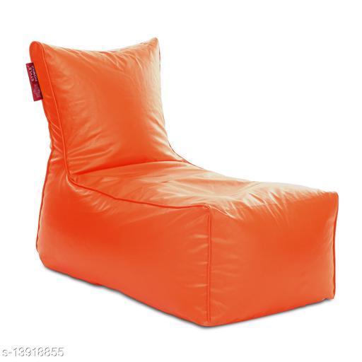 Style Homez Alexa Luxury Lounge XXXL Bean Bag Orange Color Cover Only