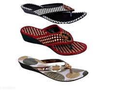 Attractive Women's Multipack Synthetic Multicolor Flipflops