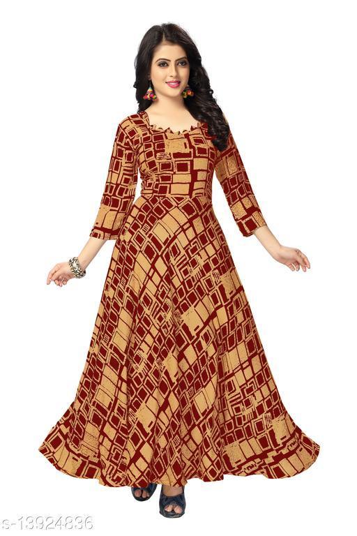 AVISHA NIDHI-6012 Women's Party Wear Printed Gown