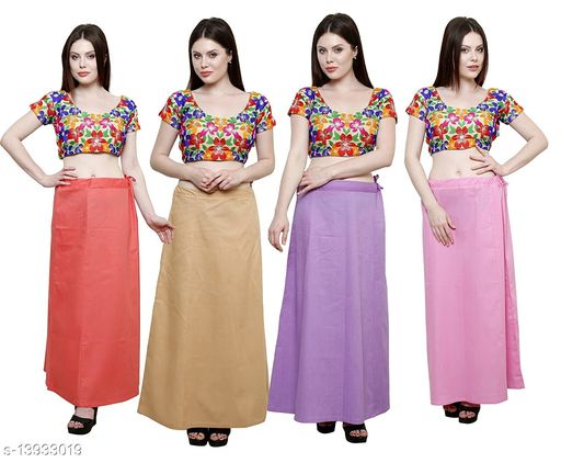 Pure Cotton Saree Women Petticoat Pack Of 4 Free Size