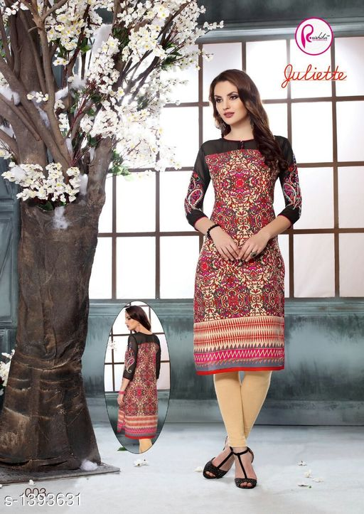 Kurta Sets Intricate Printed Rayon Kurta Sets  *Fabric* Kurti - Rayon, Legging - Rayon  *Sleeves* 3/4 Sleeves Are Included  *Size* Kurti - XXL - 44 in, Legging - XXL - 32  *Length* Kurti - Up to 44 in, Legging - Up To 39 in  *Type* Stitched  *Description* It Has 1 Piece Of Kurti With 1 Piece Of Legging  *Work* Kurti - Printed, Legging - Solid  *Sizes Available* XXL   Supplier Rating: ★4 (62) SKU: 23 Free shipping is available for this item. Pkt. Weight Range: 400  Catalog Name: Aarzoo Intricate Printed Cotton Kurta Sets Vol 2 - Anuradha B Code: 969-1393631--