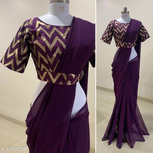 BEST SELLING STITCHED BLOUSE SAREE