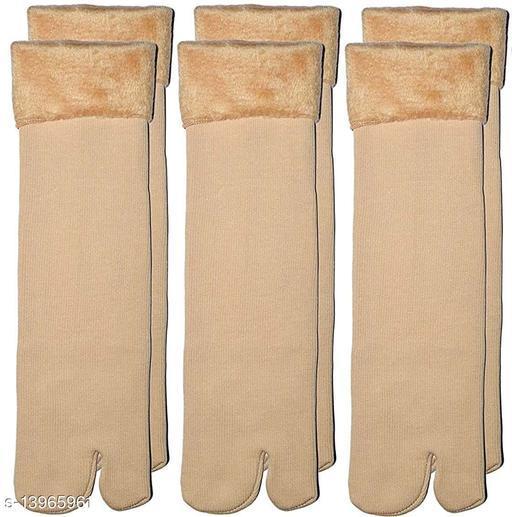 ARNAH TREASURE Women's Winter Thermal Thumb Socks Fleece Warm Ankle Socks, (Pack of 3 Pairs)