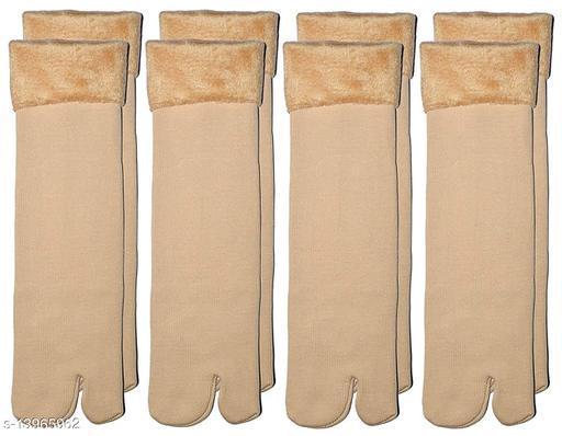 ARNAH TREASURE Women's Winter Thermal Thumb Socks Fleece Warm Ankle Socks, (Pack of 4 Pairs)