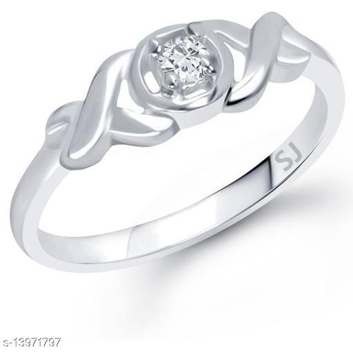 Netra Fashion Jewellery Swirl Pattern Rhodium Plated Alloy Finger Ring for Women & Girls