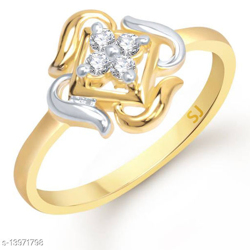 Netra Fashion Jewellery Antique Square Gold Plated Alloy Finger Ring for Women & Girls