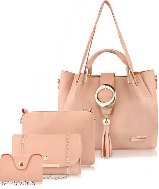 Beautiful Women's Multipack Cream Faux Leather/Leatherette Handbag