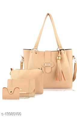 Attractive Women's Multipack Cream Faux Leather/Leatherette Slingbag