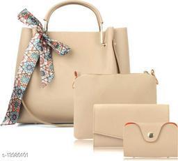 Attractive Women's Cream Handbag