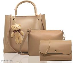 Attractive Women's Cream Faux Leather/Leatherette Slingbag