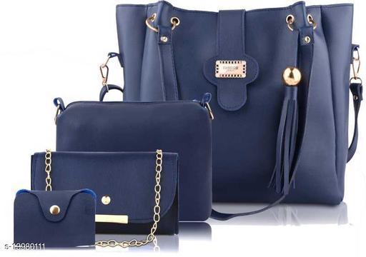 Trendy Women's Multipack Blue Handbag