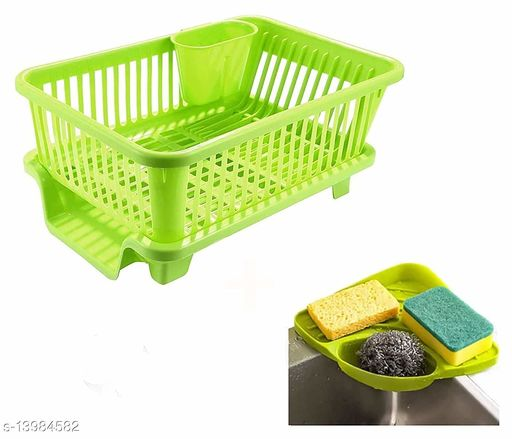 Lanz BIG 3 in 1 Kitchen Sink Dish Rack Drainer Drying Rack Washing Basket with Tray for Kitchen, Dish Rack Organizers